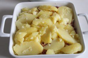 Zweite Kartoffel Schichte