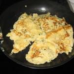Eine Omelette kochen