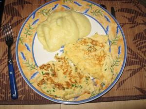 Purée et omelette