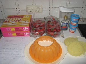 Zutaten für die Charlotte aux fraises