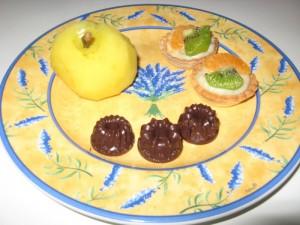 Gekochter Apfel, Schokopralinen & Mini Tarten