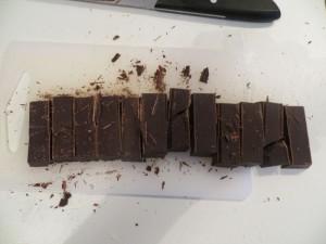 17 Schoko Staebchen fuer Pain au chocolat