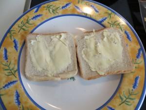 Butter verteilen