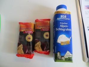 Zutaten Ganache chocolat