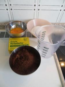 Zutaten Kaffee Buttercreme
