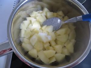 Apfel und Zucker