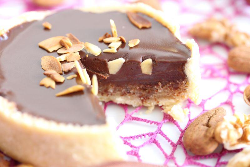Tarte chocolat et amande