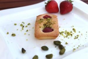 Financiers à la fraise et à la pistache