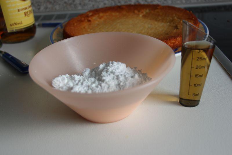 Zutaten kuchen glasur
