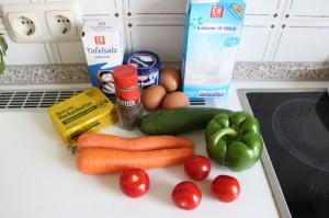 Zutaten Flan legumes