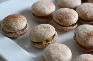 Fertige Macarons Pomme
