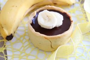 Tarte au chocolat et banane