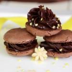 Macarons Chocolat et Marzipan