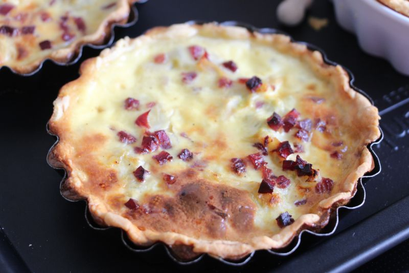Gebackene Poree Quiche