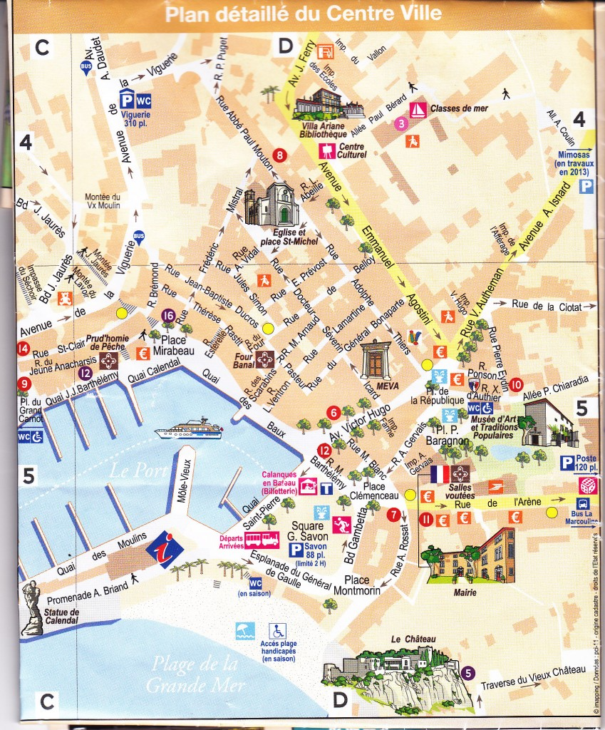 Cassis Stadtplan