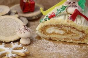 Bûche de Noël Citron et Mascarpone