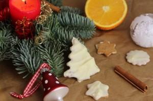 Sablés de Noël aux épices et chocolat blanc