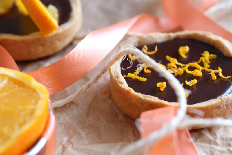 Tartelette chocolat orange