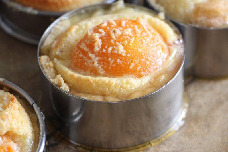 Gebackene tarte abricot