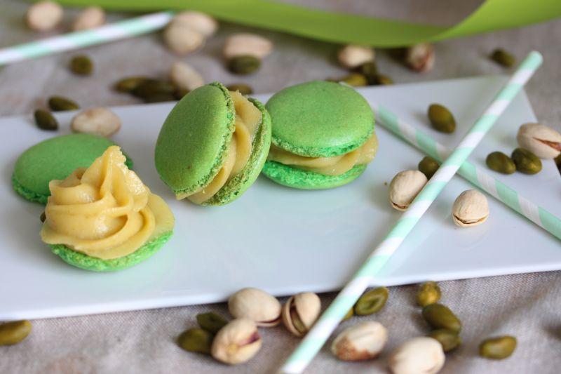 Macarons a la pistache
