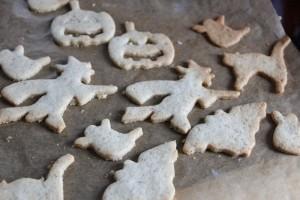 Halloween gebackene Kekse
