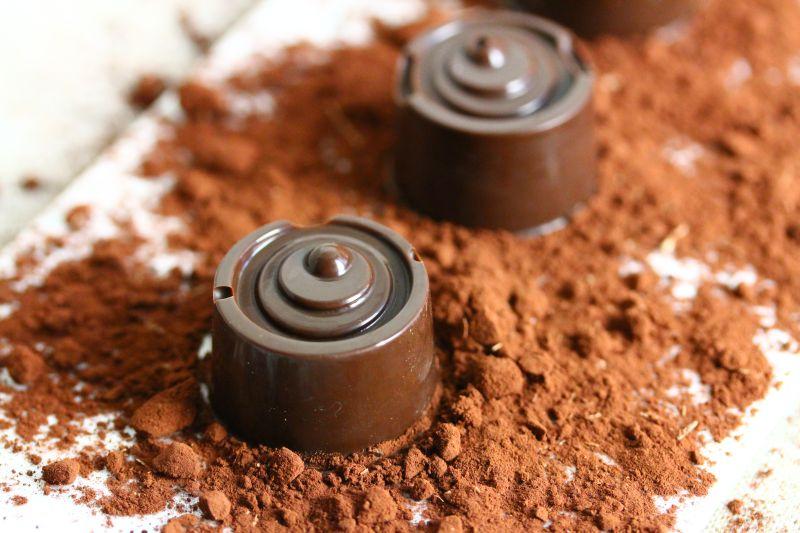 Pralinen mit Mousse au chocolat