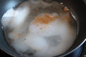 Zucker mit gewuerze erhitzen