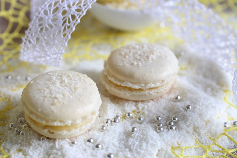 Macarons a la noix de coco 9