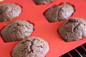 Gebackene Madeleines au chocolat