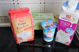 Zutaten Glace a la vanille