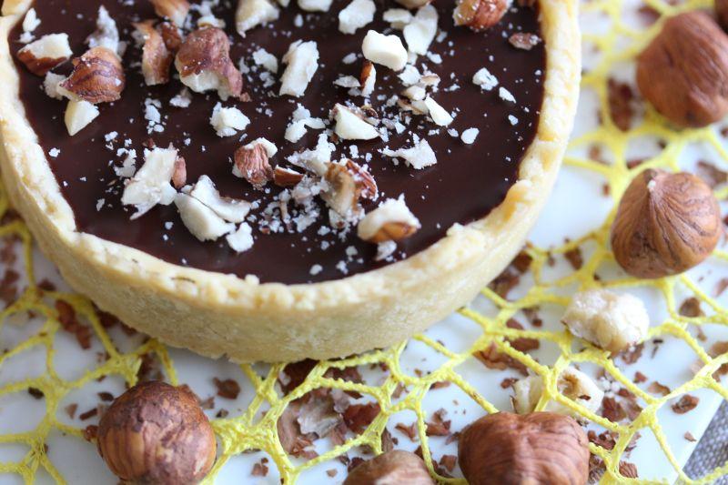 Tarte chocolat noisette 10