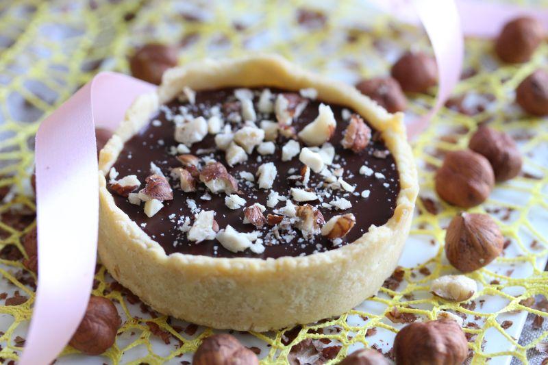 Tarte chocolat noisette 8
