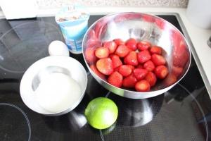 Zutaten Erdbeereis