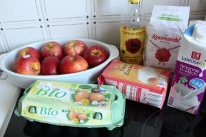 Zutaten Clafoutis Apfel