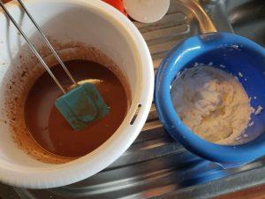 Pralin Schokolade und Sahne