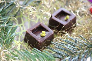 Pralines à la mousse de pistache