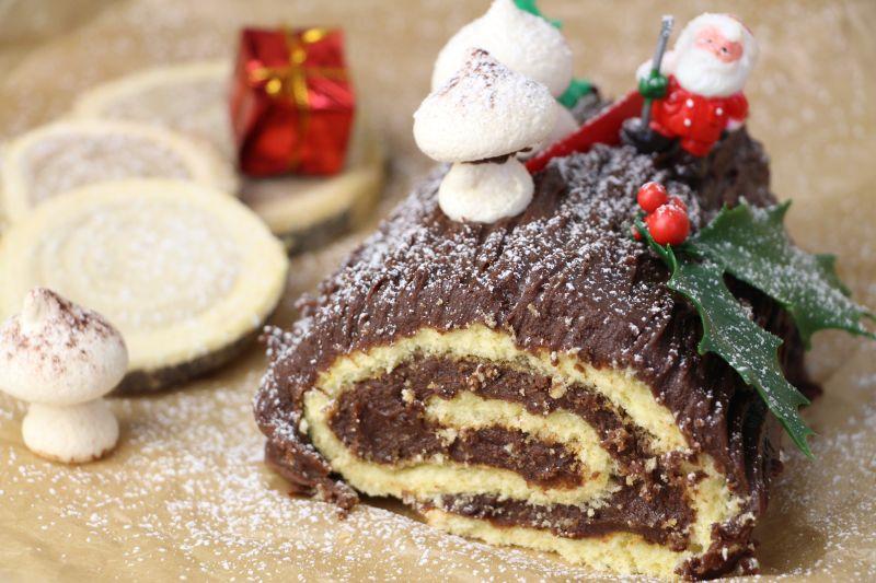 Gerollte Buche au chocolat 3